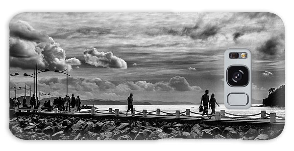 Silhouettes On The Jetty Galaxy Case