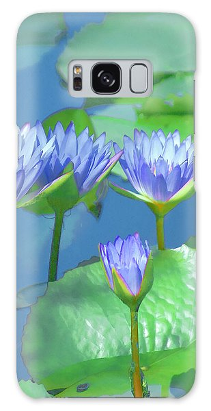 Galaxy Case - Silken Lilies by Holly Kempe