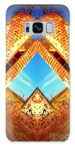 Silo Pyramid Galaxy Case by Karen Newell