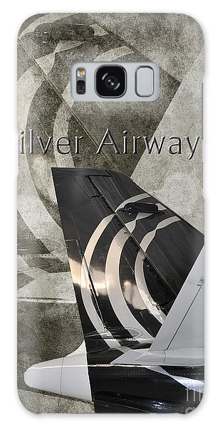 Silver Airways Tail Logo Galaxy Case