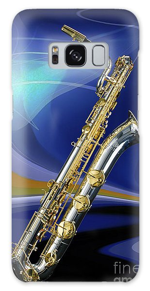 Silver Baritone Saxophone Photograph In Color 3459.02 Galaxy Case