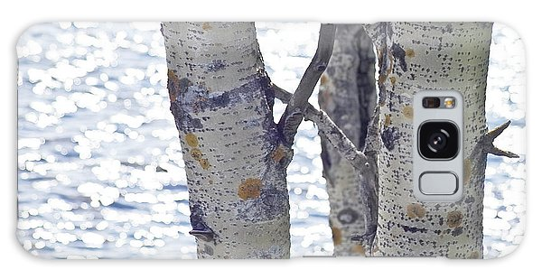 Galaxy Case featuring the photograph Silver Birch Trees At A Sunny Lake by Heiko Koehrer-Wagner