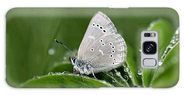 Silver Butterfly Galaxy Case