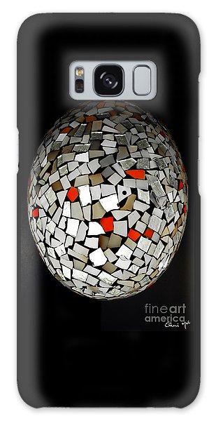 Galaxy Case featuring the digital art Silver Egg by Eleni Mac Synodinos