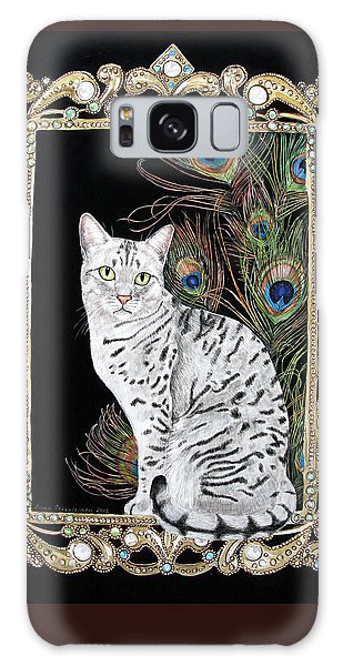 Silver Egyptian Mau Galaxy Case by Leena Pekkalainen