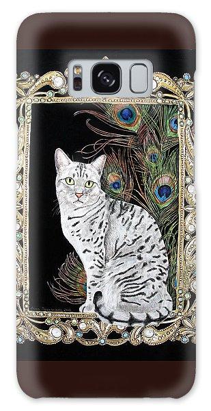 Silver Egyptian Mau Galaxy Case by Leena Pekkalainen