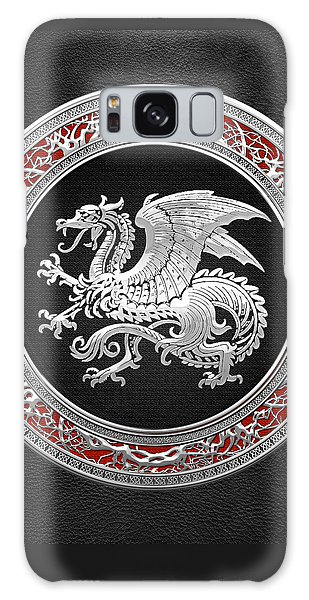 Silver Icelandic Dragon  Galaxy Case