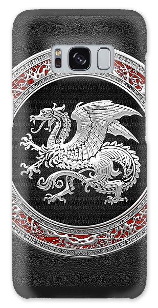 Silver Icelandic Dragon  Galaxy Case