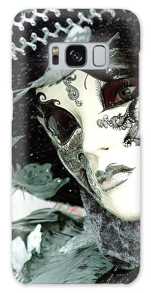 Silver Lacy Eyes Galaxy Case