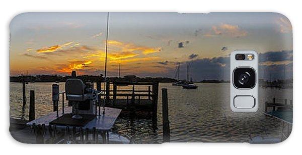 Silver Lake Sunset Panorama Galaxy Case