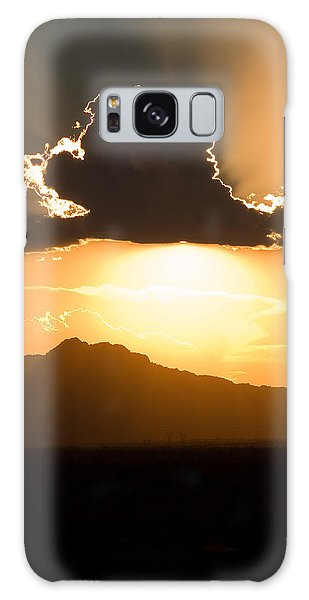 Galaxy Case featuring the photograph Silver Lining by Brad Brizek