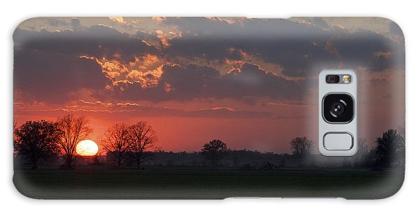 Silver Lining - Red Sunset Art Print Galaxy Case