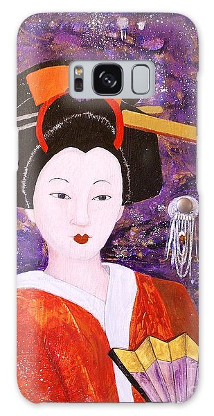 Silver Moon Geisha Galaxy Case