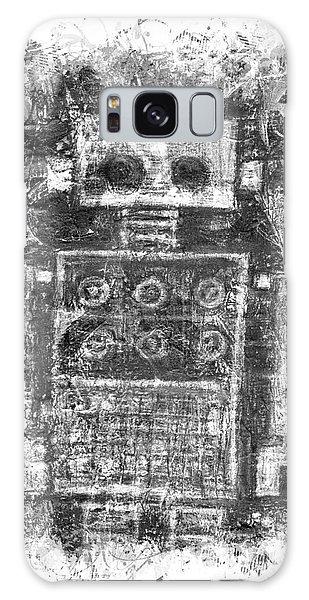 Silver Scene Robot Splat Galaxy Case