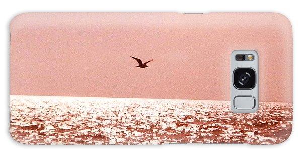 Silvery Seagull Solo Flight Galaxy Case by Belinda Lee