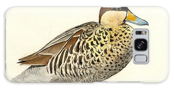 Duck Galaxy Case - Silver Teal by Juan  Bosco