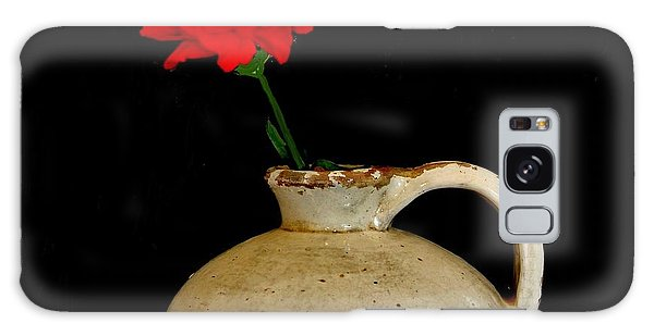 Simple Carnation In Pottery Galaxy Case by Marsha Heiken