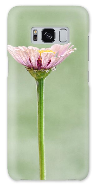 Galaxy Case featuring the photograph Simplicity In Pink  by Jeanne May