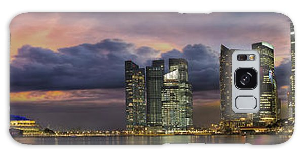 Singapore City Skyline At Sunset Panorama Galaxy Case