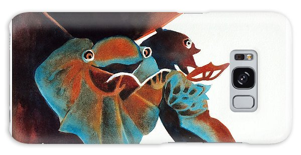 Singing Frog Duet 2 Galaxy Case by Kathy Braud