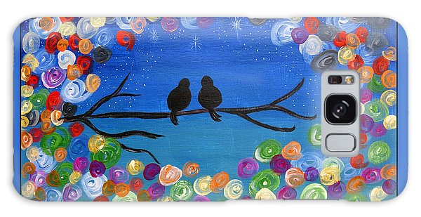 Singing To The Stars Tree Bird Art Painting Print Galaxy Case