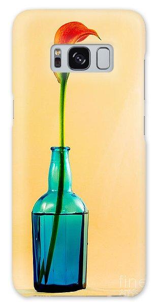 Single Calla In Blue Bottle Galaxy Case