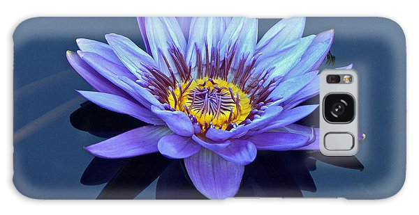 Single Lavender Water Lily Galaxy Case