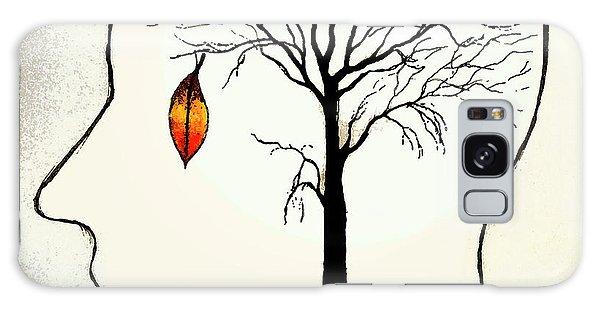 Anguish Galaxy Case - Single Leaf Hanging On Barren Tree by Ikon Ikon Images