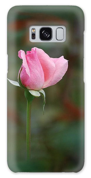 Single Pink Rose Galaxy Case by Kathy Gibbons