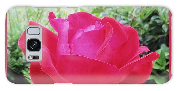 Galaxy Case - Single Red Rose by Kathy Spall