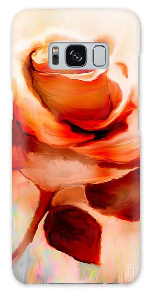 Single Rose Painting Galaxy Case