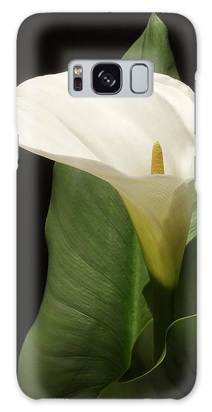 Single White Calla Galaxy Case
