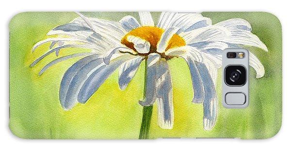 Daisy Galaxy Case - Single White Daisy Blossom by Sharon Freeman
