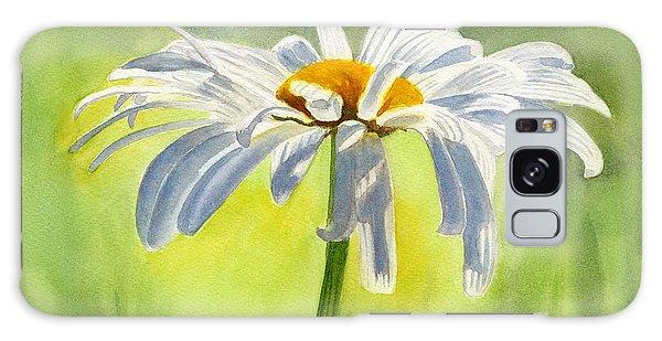 Single White Daisy Blossom Galaxy Case by Sharon Freeman