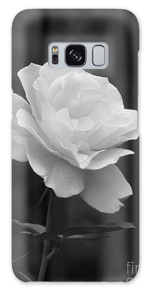 Single White Rose Galaxy Case