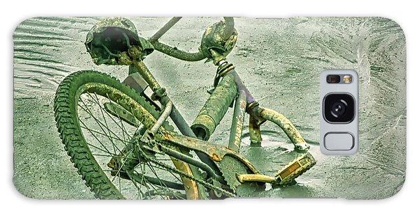 Sinking Bike In Mud Galaxy Case by Gary Slawsky