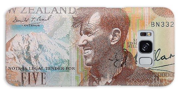 Sir Edmund Hillary Signed Banknote Galaxy Case