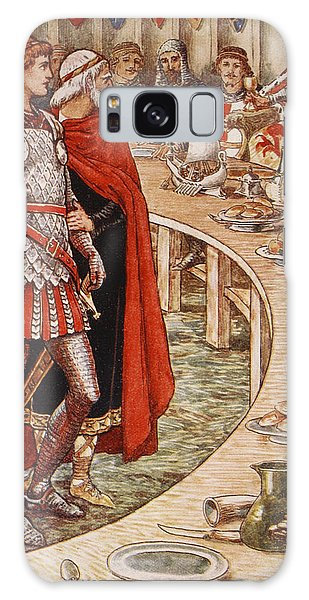 Sir Galahad Is Brought To The Court Of King Arthur Galaxy Case by Walter Crane