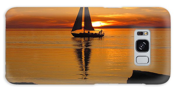Sister Bay Sunset Sail 2 Galaxy Case