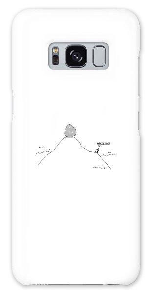 Sisyphus Balances The Boulder At The Top Galaxy Case