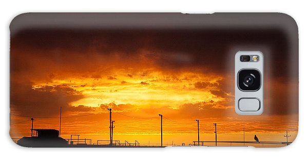 Sit A Spell Sunset Galaxy Case