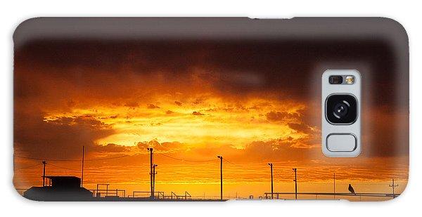 Sit A Spell Sunset Galaxy Case by Shirley Heier
