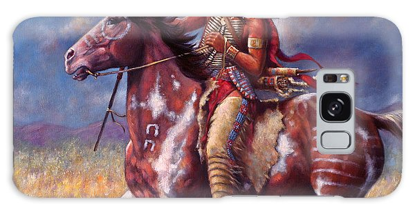 Sitting Bull Galaxy Case by Harvie Brown