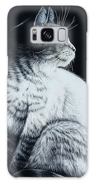 Sitting Cat Galaxy Case