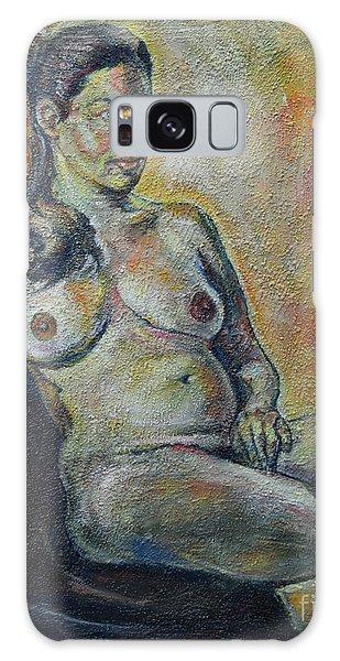 Sitting Nude Galaxy Case