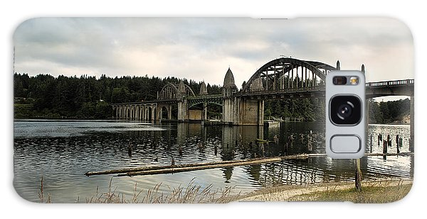 Siuslaw River Bridge Galaxy Case