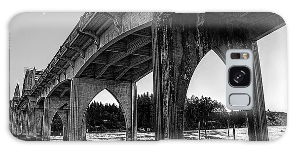 Siuslaw River Bridge Portrait Galaxy Case