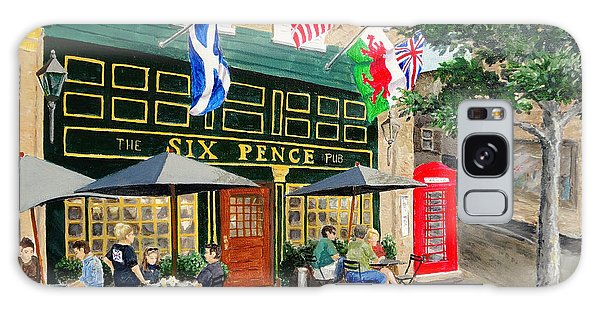 Six Pence Pub Galaxy Case by Marilyn Zalatan
