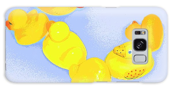 Six Rubber Ducks Galaxy Case by Valerie Reeves