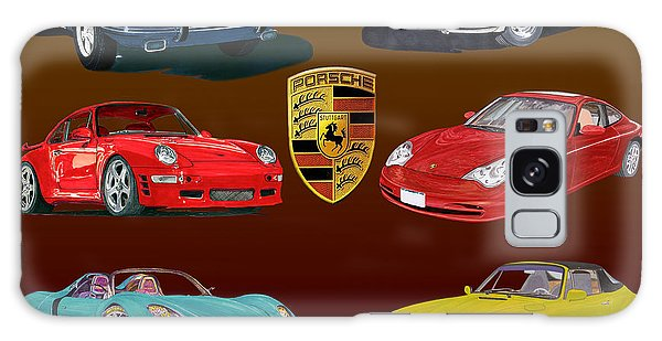 Six Sexy Slippery Porsche Automobiles Galaxy Case